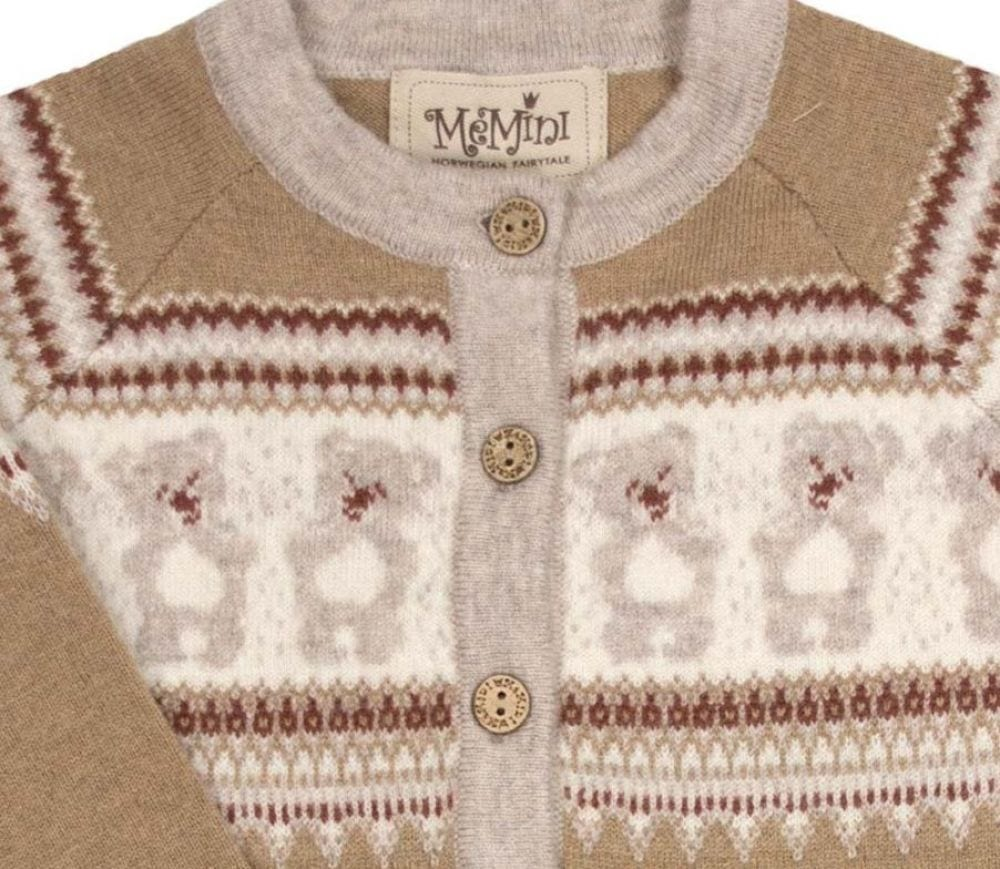 6c1b78f5 MeMini TEDDY cardigan - Light Brown - Minirein - barneklær, leker og ...