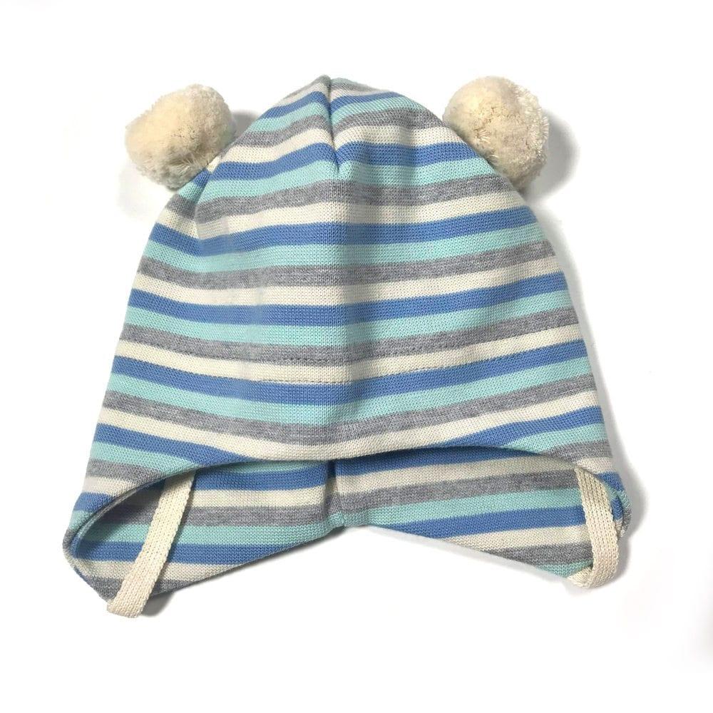 4230c6be Kivat babylue i bomull - stripete grå/blå/turkis/hvit - Minirein ...